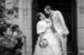photographe mariage Adeline et Thomas  Angers stéphane Guibert - église, cérémonie religieuse, la sortie