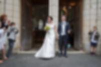 Mariage de Lucile et Fabien, Montreuil Bellay, Stéphane Guibert photographie Angers, la sortie de l'église