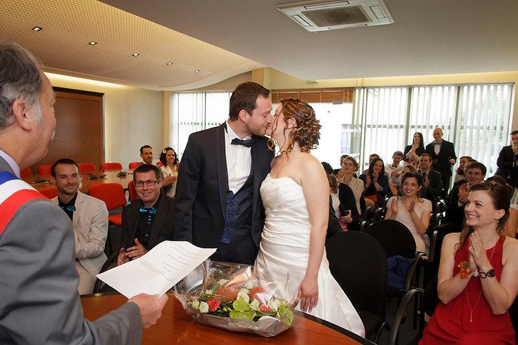 Mariage Emmanuelle et Baptiste, Loire atlantique, Stéphane GUIBERT photographe Angers, le baiser du oui