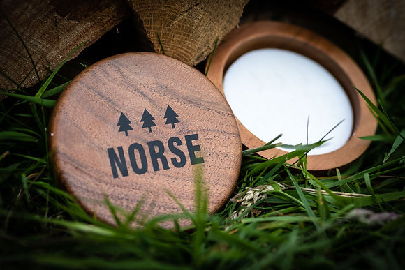NORSE Acacia Wood Shaving Bowl with Peppermint Shaving Soap