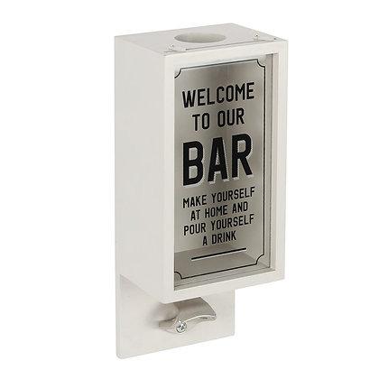 Pale Grey Bar Bottle Opener Plaque