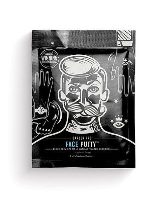 Barber Pro Face Putty Peel-Off Mask with Activated Charcoal