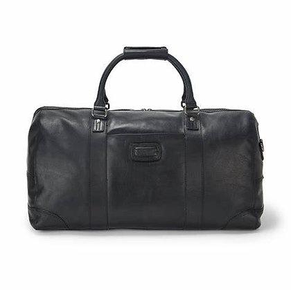 Ashwood Francis Black Leather Holdall