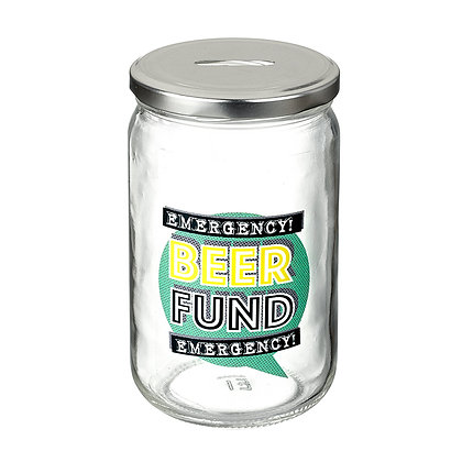 Beer Fund Glass Jar