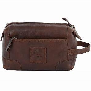 Ashwood Heritage Tan Leather Washbag