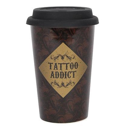 Ceramic Tattoo Addict Travel Mug