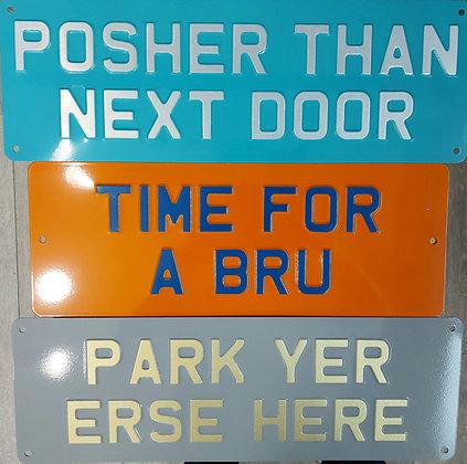 Personalised handmade sign