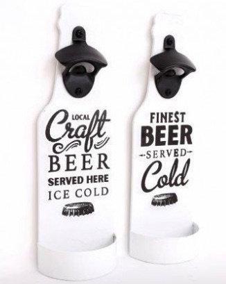 Beer Bottle Opener on Wall Mounted Plaque