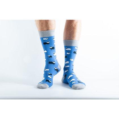 Doris & Dude Blue Sheep Socks