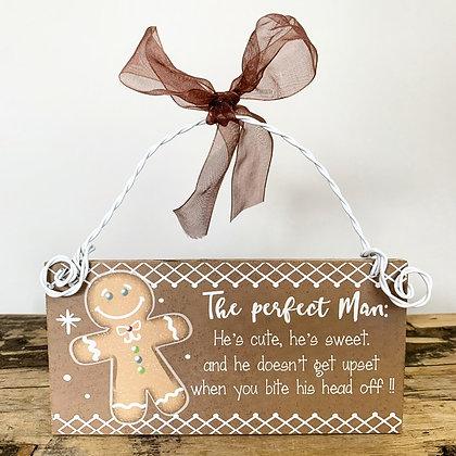 Gingerbread Man Hanging Sign