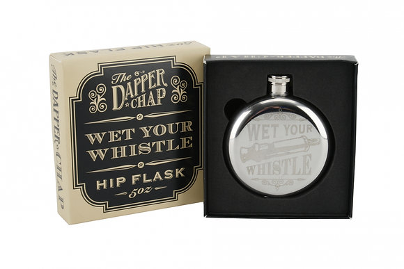 The Dapper Chap 'Wet Your Whistle' 5Oz Hip Flask