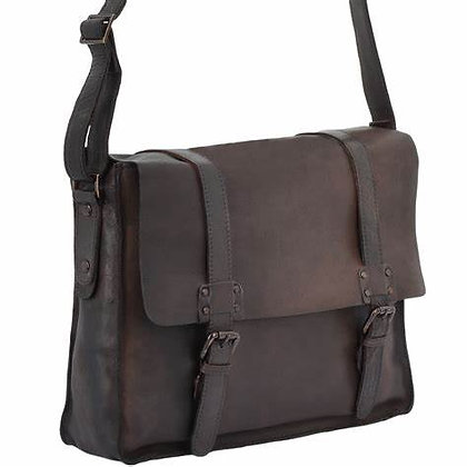 Ashwood Leather  Vintage Messenger Brown Bag
