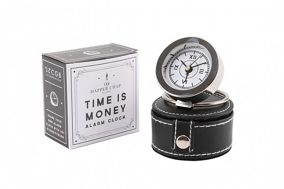 Dapper Chap Time Is Money Alarm Clock