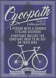 Chronic Cycling Disorder Metal Sign