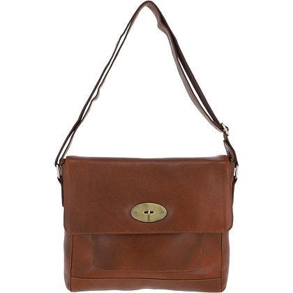 Ashwood Leather Messenger Cognac Bag