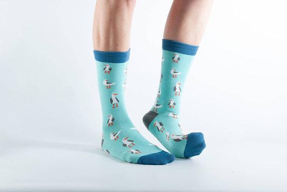 Doris & Dude Green Seagull Socks