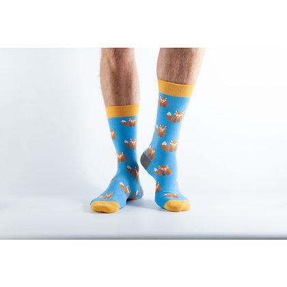 Doris & Dude Blue Fox Socks