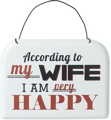 I am Happy Vintage Sign