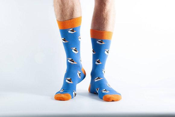 Doris & Dude Royal Blue Puffin Socks