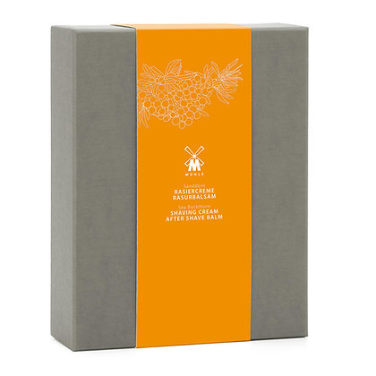 MÜHLE SHAVE CARE, Sea Buckthorn Set Incl. Shaving Cream & Aftershave