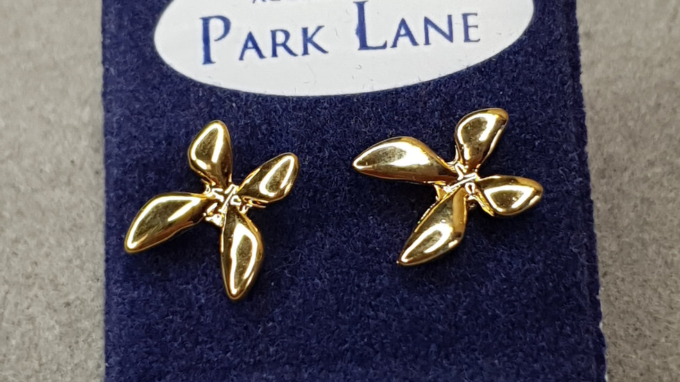 Gold Coloured Butterfly Shaped Earrings