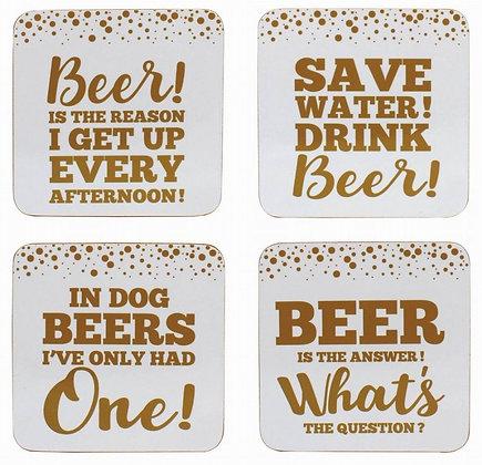 Beer Coasters (x4)