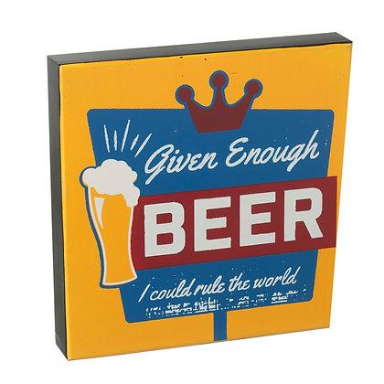 Beer Wooden Sign
