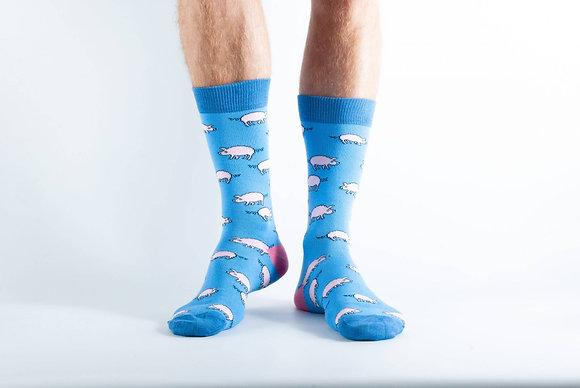 Doris & Dude  Blue Pig Socks
