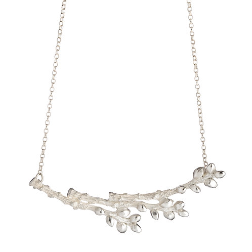 Sterling Silver Triple Bud Necklace