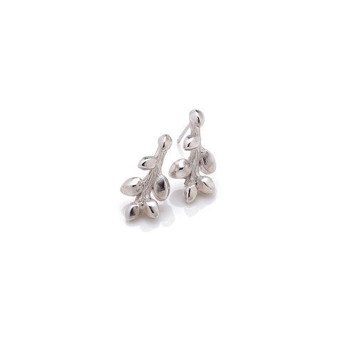 Sterling Silver Single Bud Stud Earrings