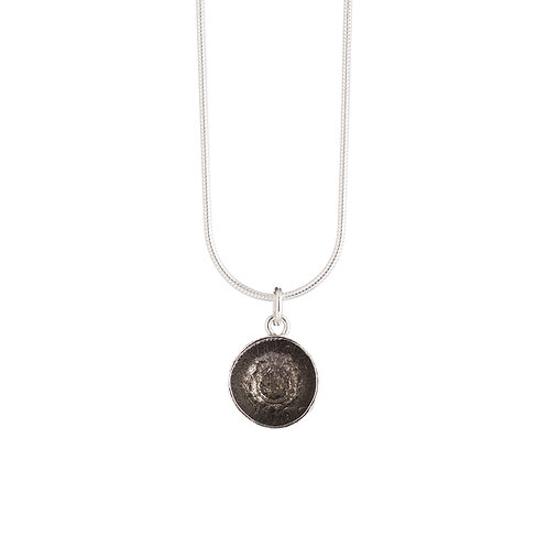 Black Rhodium Plated Acorn Cup Necklace
