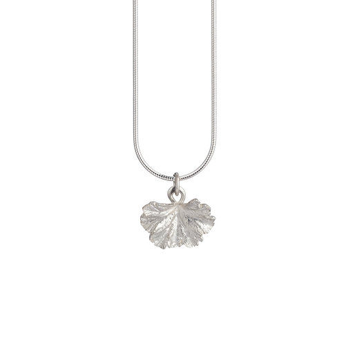 Sterling Silver Geranium Leaf Necklace