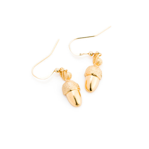 24ct Gold Plated Acorn Earrings