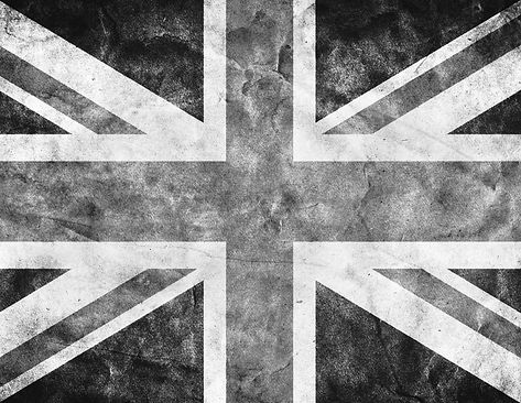 black and white union jack