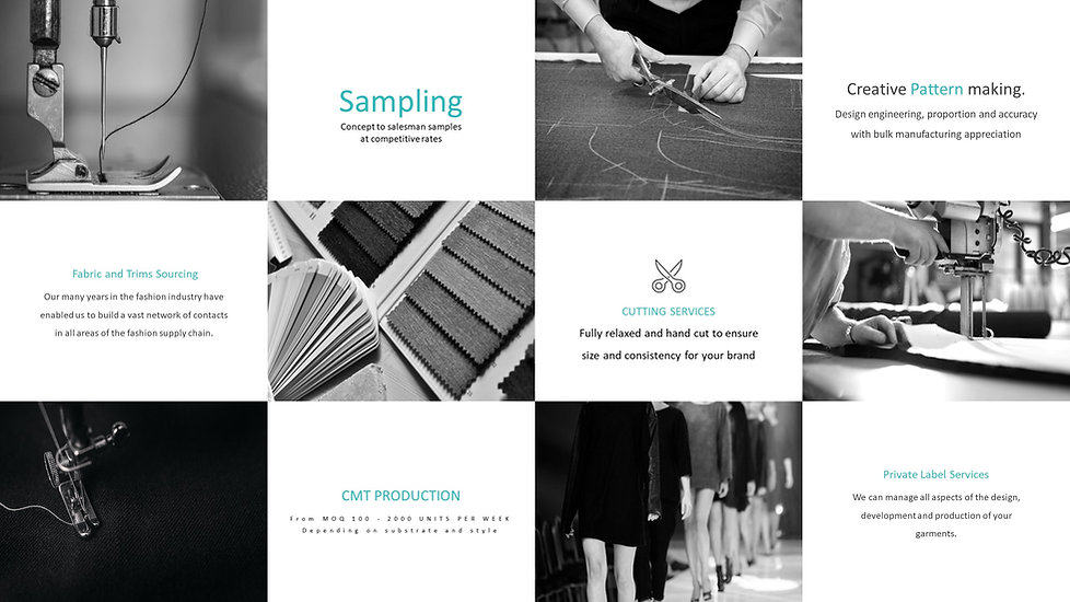 UK clothing factory services