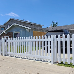 Vinyl Picket Driveway Gate and Fence