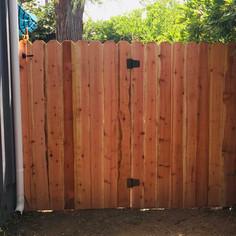 Dog Ear Redwood Gate