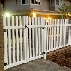 Custom Vinyl Picket Gate and Fence