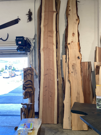 Long slab of local redwood