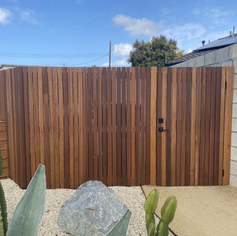 Custom Vertical Gate and Fence - Modern