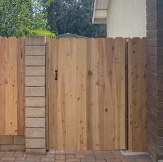 Dog Ear Cedar Gate