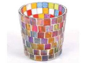 Coloured Glass Tea Light Holder
