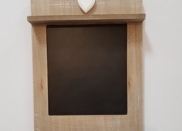 Scalloped Chalkboard With Hooks