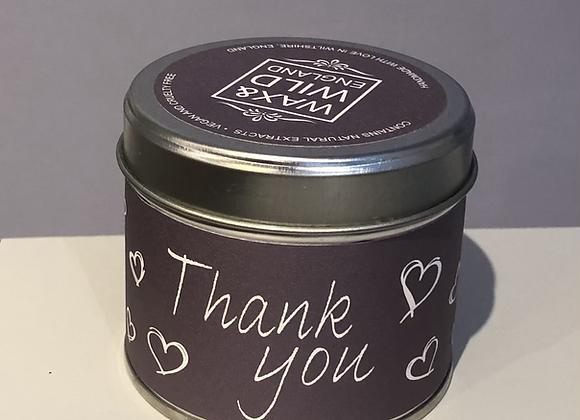 Thank You Candle Tin