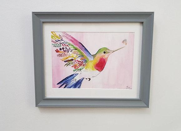 Harmony the Hummingbird Framed Original Art Print