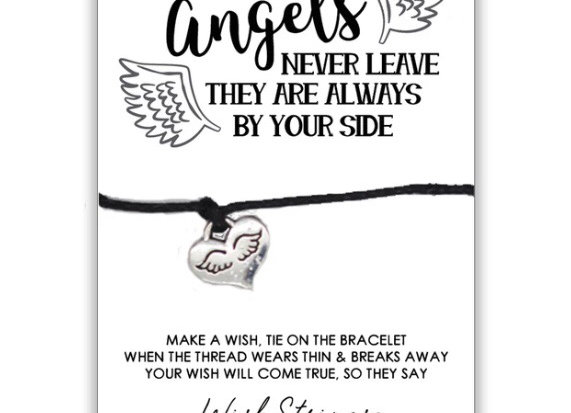 Angels Never Leave Remembrance Charm Bracelet