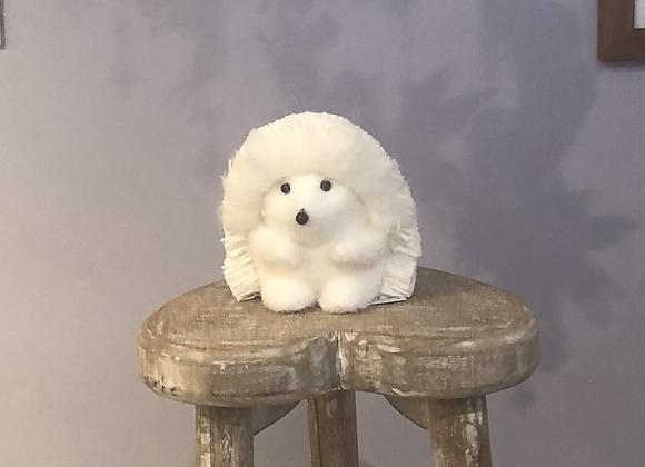 Festive White Bristle Hedgehog
