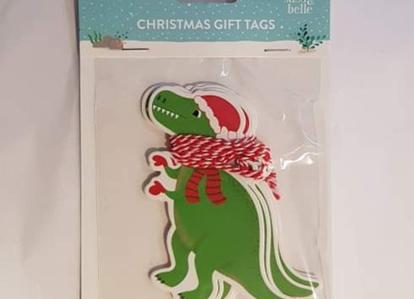Set Of 6 Dinosaur Gift Tags