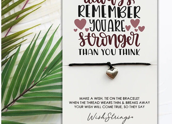 You Are Stronger Than You Think Charm Bracelet