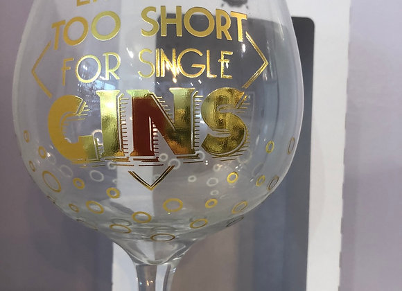 Novelty Gold Gin Glass with free sparkle drops